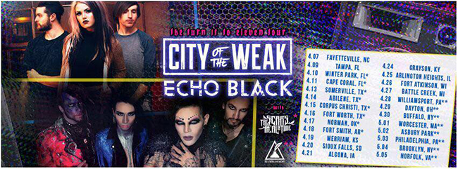 echo black city weak tour